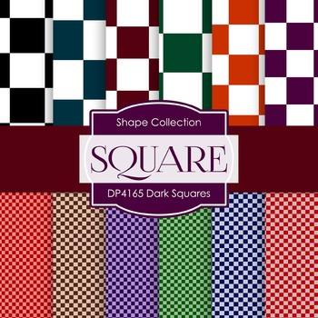 Digital Papers - Dark Squares (DP4165)