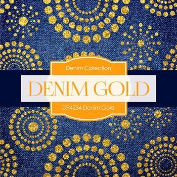 Digital Papers - Denim Gold (DP4234)