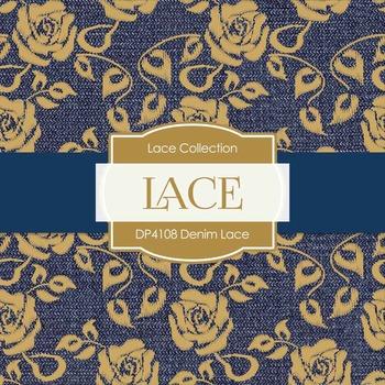 Digital Papers - Denim Lace (DP4108)