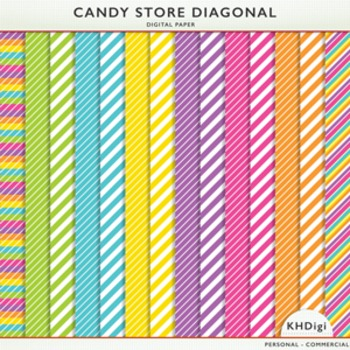 Digital Papers - Diagonals - Candy Store Collection