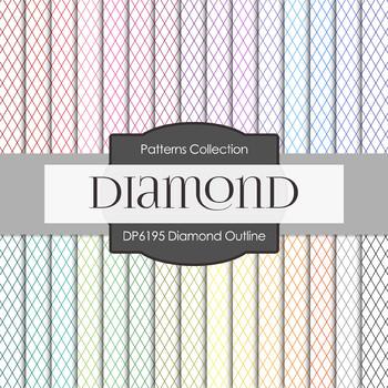 Digital Papers - Diamond Outline (DP6195)