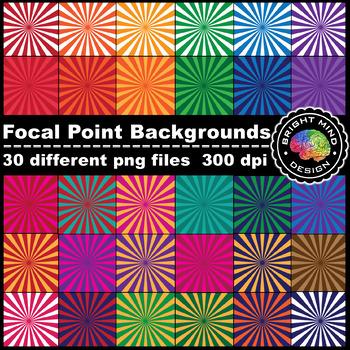 Digital Papers - Digital Backgrounds (Focal Point / Spotlight / Starburst)