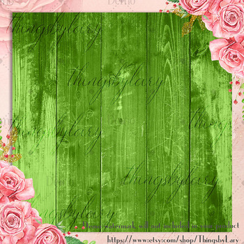42 Greenery Rustic Wood Texture Digital Papers 12 x 12 inch