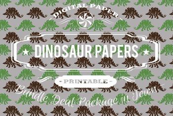 Digital Papers - Dinosaur Patterns Bundle Deal