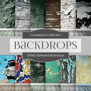Digital Papers - Distressed Backdrops (DP660)