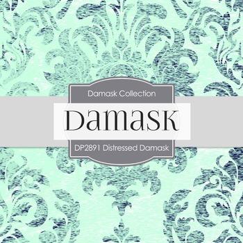 Digital Papers - Distressed Damask (DP2891)