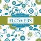 Digital Papers - Doodle Flowers (DP4210)