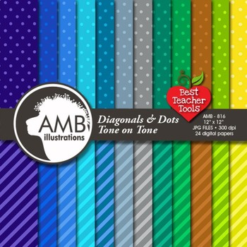 Digital Papers, Dots and Stripes pattern digital paper and backgrounds, AMB-816