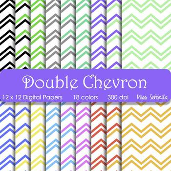 Digital Papers - Double Chevron