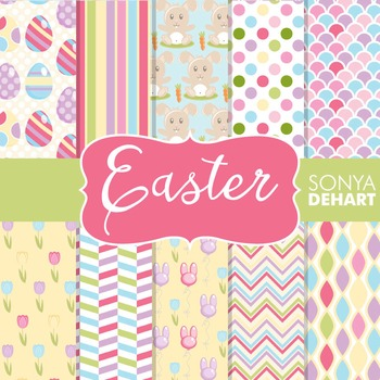 Digital Papers - Easter Bunny Patterns
