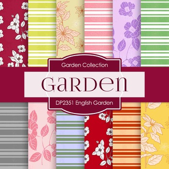 Digital Papers -  English Garden (DP2351)
