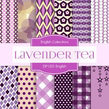 Digital Papers - English Lavender Tea (DP1231)