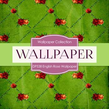 Digital Papers - English Rose Wallpaper  (DP538)