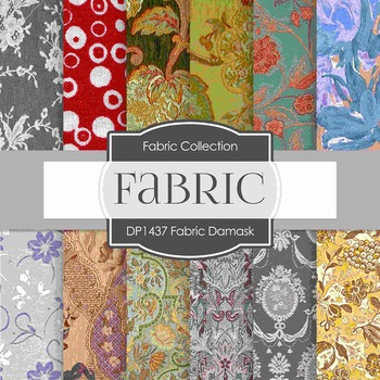 Digital Papers - Fabric Damask (DP1437)