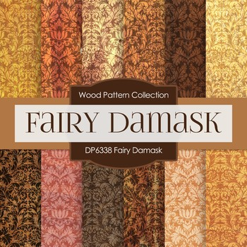 Digital Papers - Fairy Damask (DP6338)