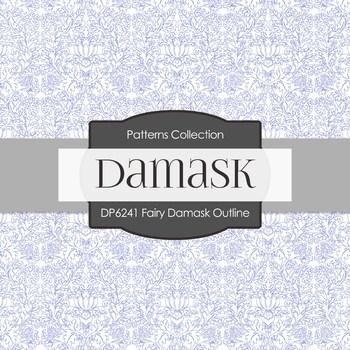 Digital Papers - Fairy Damask Outline (DP6241)