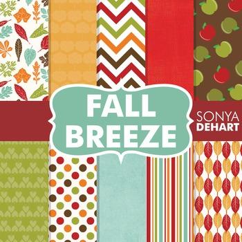 Digital Papers -  Fall Breeze