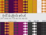 Digital Papers - Fall Buffalo Plaid and Solids