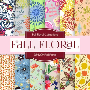 Digital Papers - Fall Floral (DP1229)