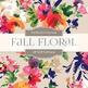 Digital Papers - Fall Floral (DP1299)
