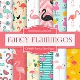 Digital Papers - Fancy Flamingos (DP6089)