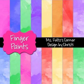Digital Papers: Finger Paint