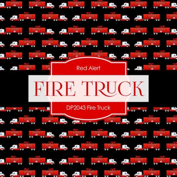 Digital Papers - Fire Truck (DP2043)