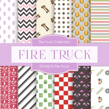 Digital Papers - Fire Truck (DP4367A)