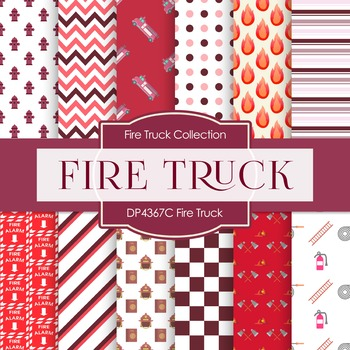 Digital Papers - Fire Truck (DP4367C)
