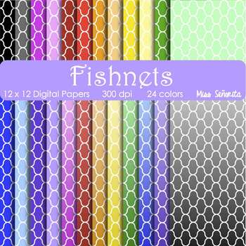 Digital Papers - Fishnets
