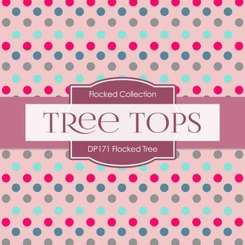 Digital Papers - Flocked Tree (DP171)