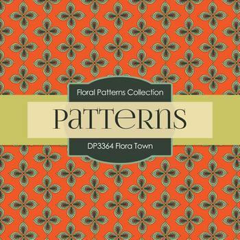 Digital Papers - Flora Town (DP3364)