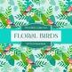 Digital Papers - Floral Birds (DP7014)