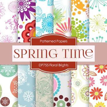 Digital Papers - Floral Brights (DP755)