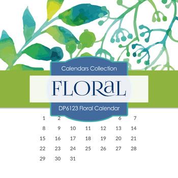 Digital Papers - Floral Calendar (DP6123)