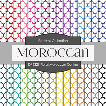 Digital Papers - Floral Moroccan Outline (DP6229)