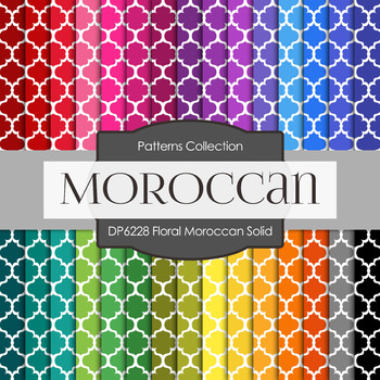 Digital Papers - Floral Moroccan Solid (DP6228)