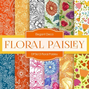 Digital Papers - Floral Paisley (DP3613)