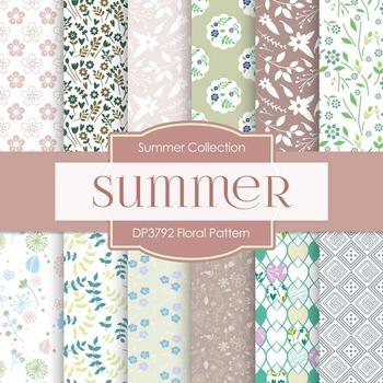 Digital Papers - Floral Pattern (DP3792)