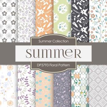 Digital Papers - Floral Pattern (DP3793)