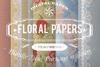 Digital Papers - Floral Patterns Bundle Deal