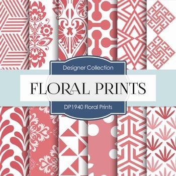 Digital Papers - Floral Prints (DP1940)