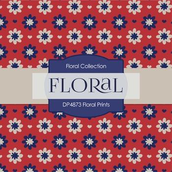 Digital Papers - Floral Prints (DP4873)