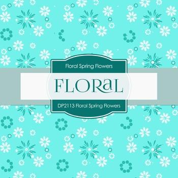 Digital Papers - Floral Spring Flowers (DP2113)