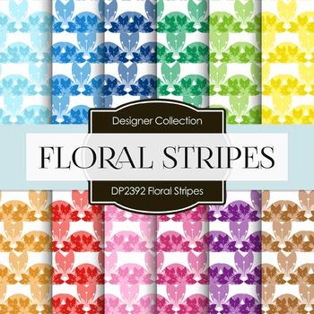 Digital Papers - Floral Stripes (DP2392)