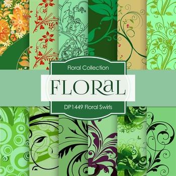 Digital Papers - Floral Swirls (DP1449)