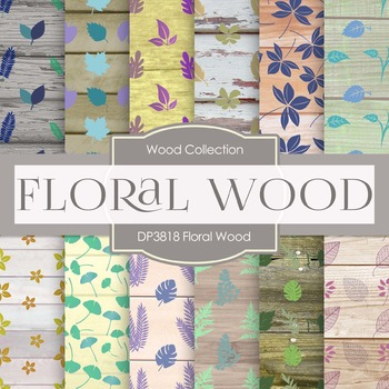 Digital Papers - Floral Wood (DP3818)