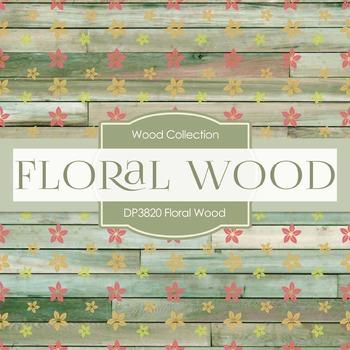 Digital Papers - Floral Wood (DP3820)