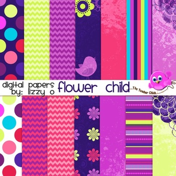 Digital Papers - Flower Child