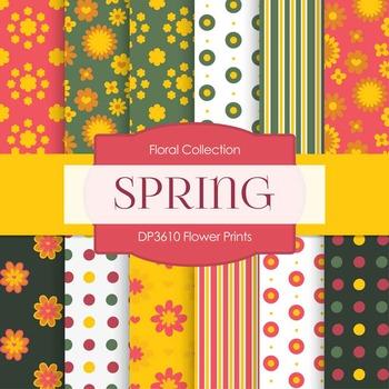 Digital Papers - Flower Prints (DP3710)